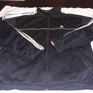 Mens large classic Adidas zip up jacket